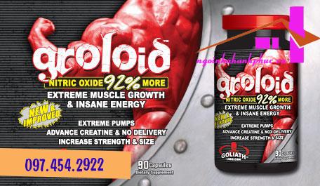 tăng cơ bắp tăng sinh lý groloid 90 viên