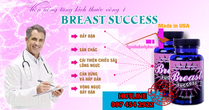 Sản phẩm hỗ trợ to ngực Breast Success